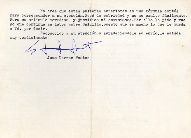 Museo Salcillo. Carta. 2