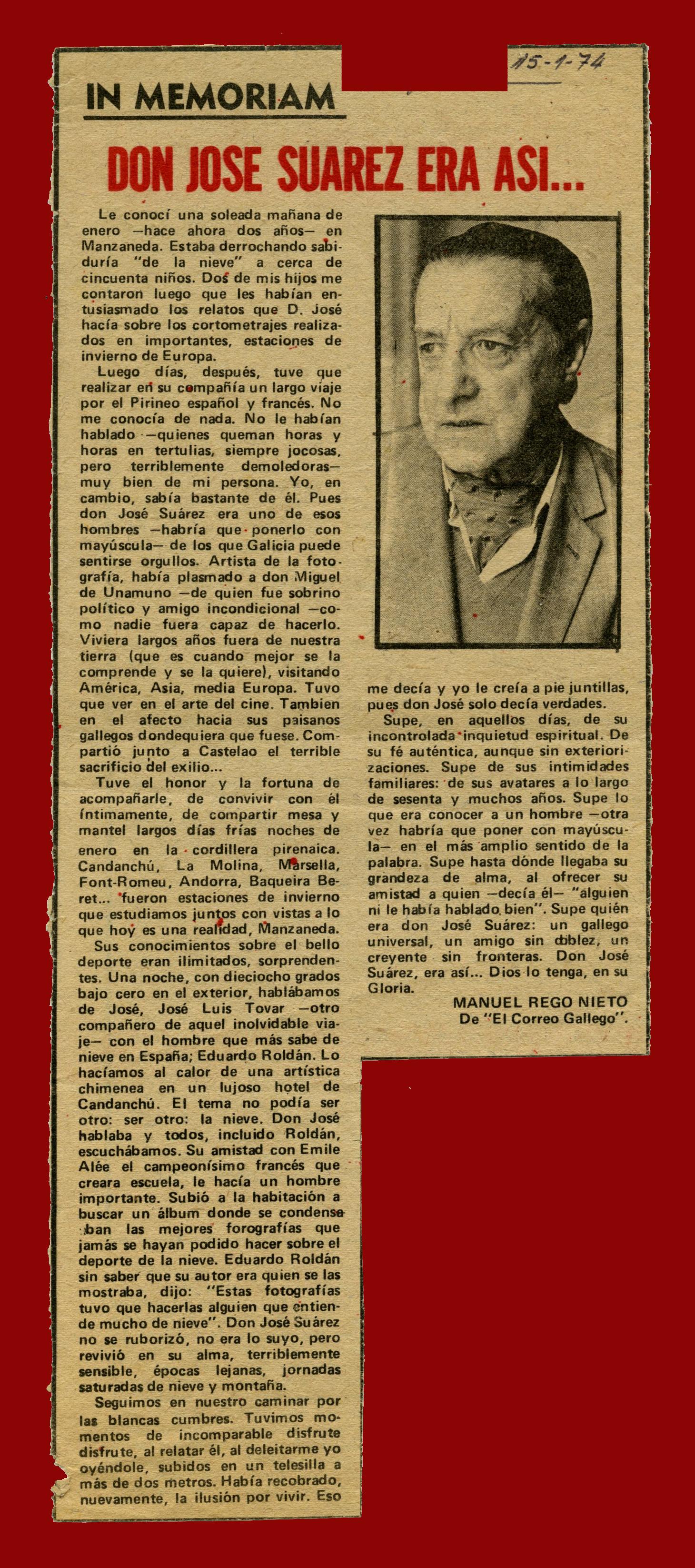 In memoriam. El Correo Gallego
